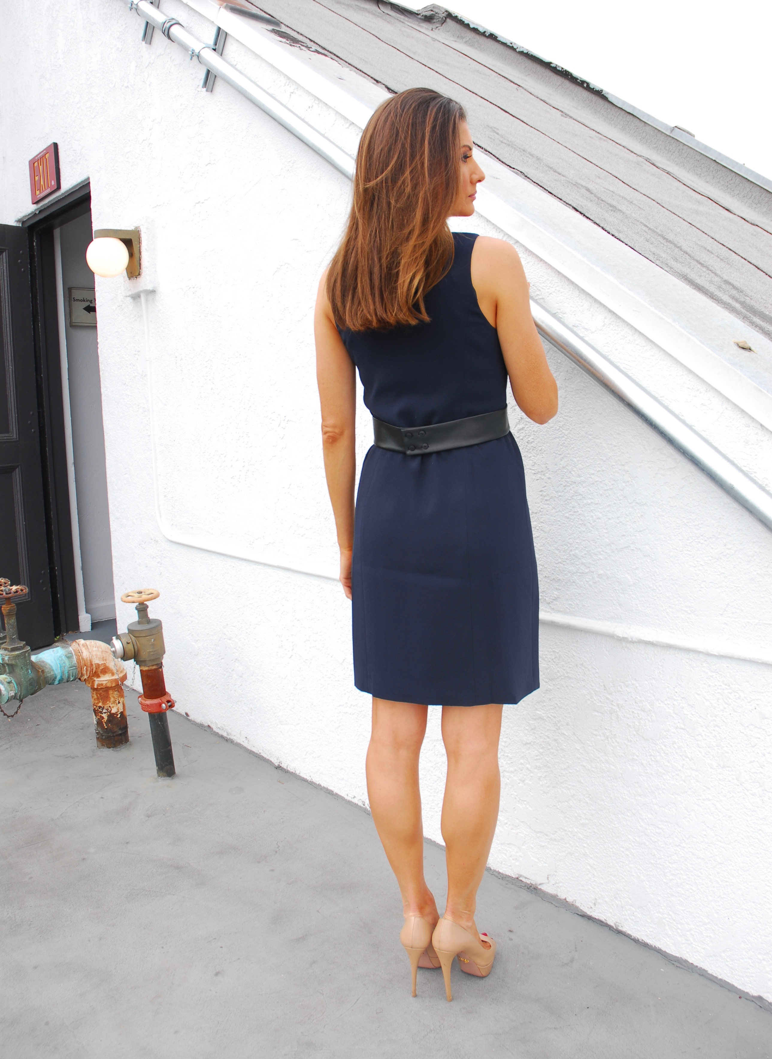 Dark Navy Crepe Wrap Dress 4 Collective Life Of Libert 233