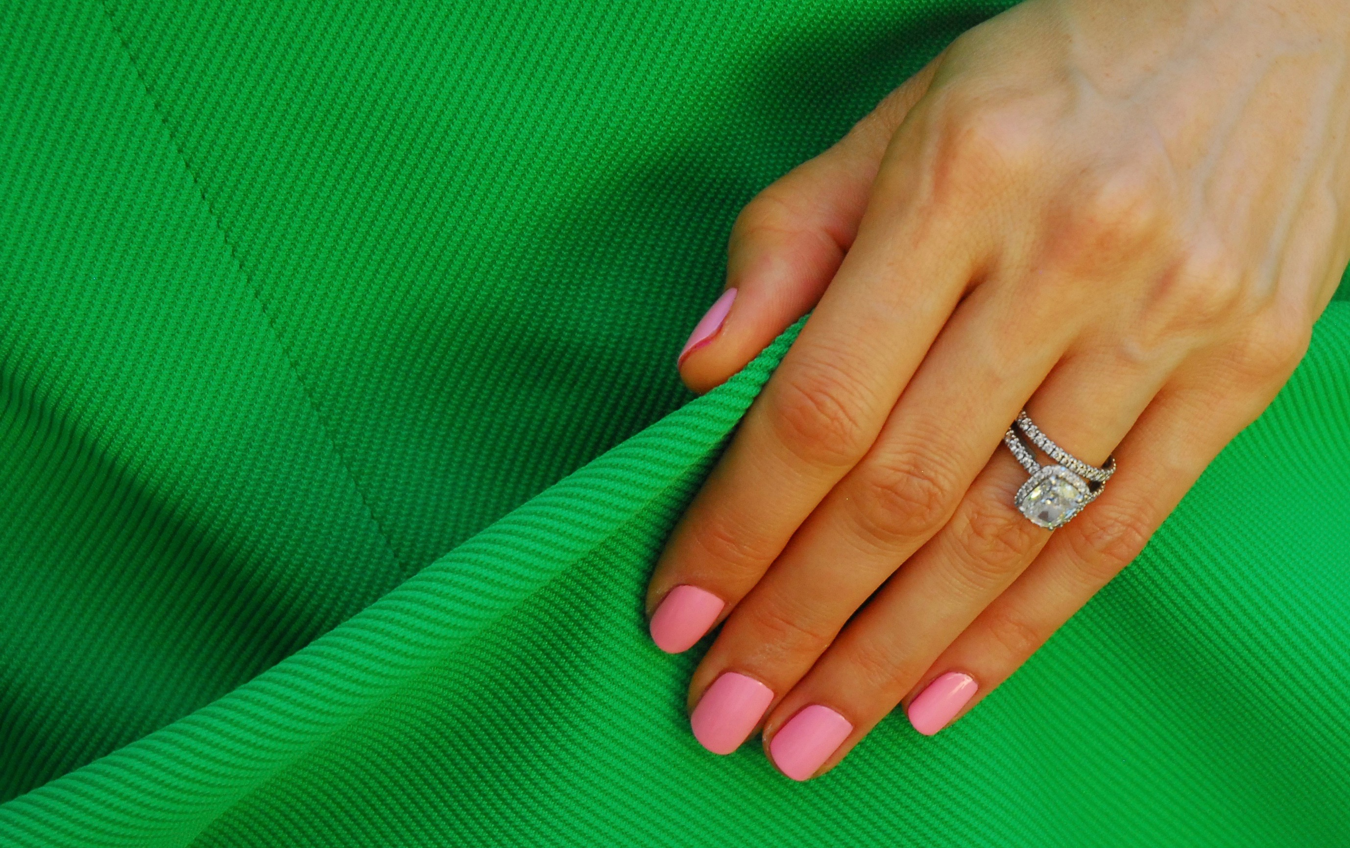 Q: I like brights, especially in the summer, but coacha'bella can be a  little much. What should I wear when I paint my nails with this bright  fuschia color?